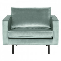 Fotoliu verde menta din catifea Rodeo Loveseat Be Pure Home