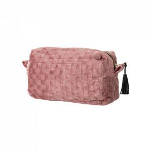 Geanta roz din poliester pentru cosmetice Amelia Bloomingville