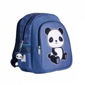 Ghiozdan albastru din poliester Panda A Little Lovely Company