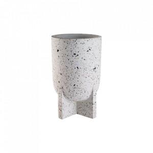 Ghiveci alb din ciment 37 cm Foundry Medium Bolia