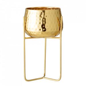 Ghiveci cu suport auriu din fier 13 cm Georgie Bloomingville