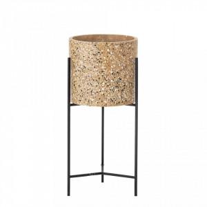 Ghiveci din ciment cu cadru din metal 23x50 cm Bloomingville