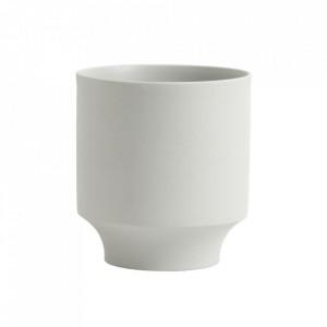 Ghiveci gri deschis din ceramica 16 cm Yuda Nordal