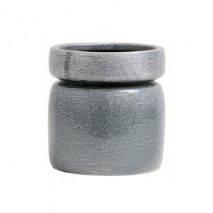 Ghiveci gri inchis din ceramica 16 cm Isa Nordal