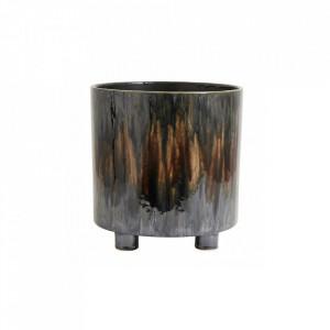 Ghiveci maro din ceramica 26,5 cm Dark Brown Art Medium Nordal