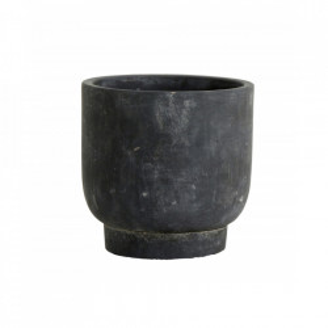 Ghiveci negru din ciment 14 cm Ivon Nordal