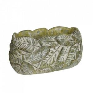Ghiveci verde din ciment 13x25 cm Usakos Ixia
