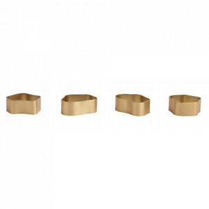 Inel auriu din alama pentru servetel de masa Capri Nordal