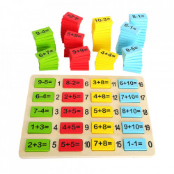 Jucarie educativa 111 piese din MDF si placaj Number Fun Small Foot