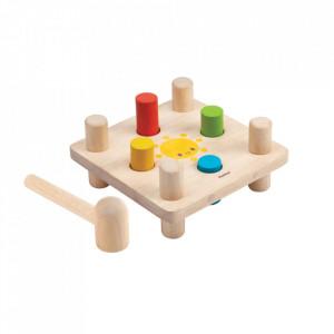 Jucarie multicolora din lemn Hammer Peg Plan Toys