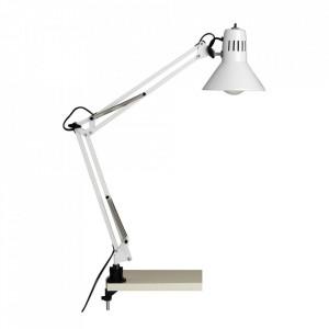 Lampa birou alba din metal 70 cm Hobby Brilliant