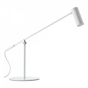 Lampa birou alba din metal cu LED 74 cm Soeren Brilliant