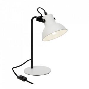 Lampa birou alba/neagra din metal 33,5 cm Ester Brilliant
