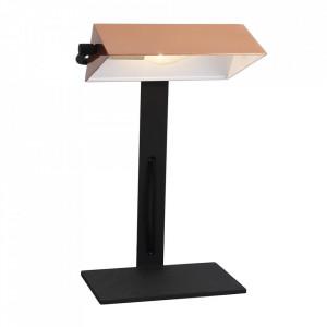 Lampa birou aramie/neagra din otel 36 cm Bankier Candellux