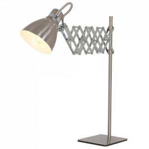 Lampa birou argintie din metal 58 cm Spring Steinhauer