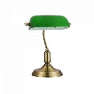 Lampa birou maro alama/verde din metal si sticla 36 cm Kiwi Maytoni