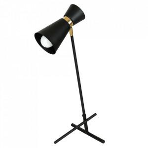 Lampa birou neagra/aurie din metal 64 cm Kedar Aldex
