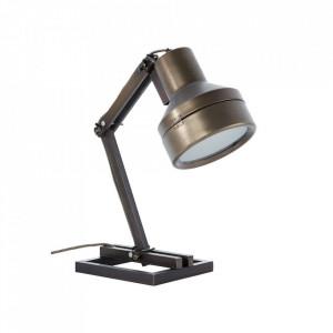Lampa birou negru otel din metal si sticla 48 cm Hardwork Brilliant