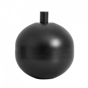 Lampa cu ulei neagra din inox si sticla pentru exterior 24 cm Garden Torch Large Nordal