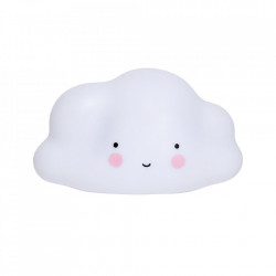 Lampa de veghe alba din PVC cu LED 14 cm Cloud A Little Lovely Company
