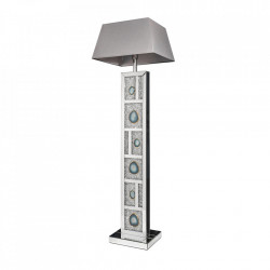 Lampadar gri/argintiu din oglinda si bumbac 159 cm Diamonds Invicta Interior