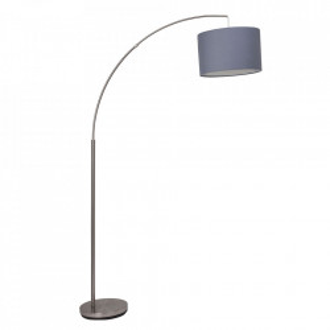Lampadar gri nichel/gri din metal si textil 180 cm Clarie Brilliant