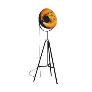 Lampadar negru/auriu din metal 170,4 cm Antenne Zuma Line
