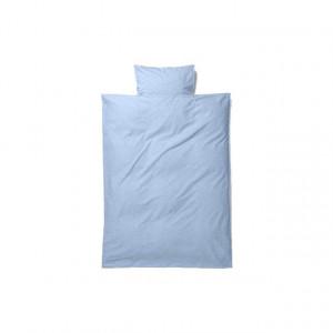Lenjerie de pat bumbac Baby albastru 70x100 cm Light Blue Ferm Living