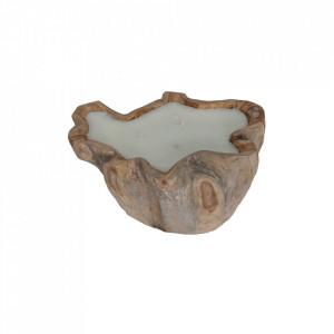 Lumanare din lemn si ceara 20 cm Biskra Vical Home