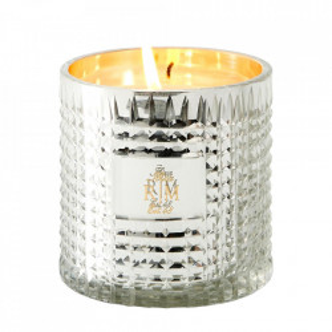 Lumanare parfumata cu suport argintiu din sticla 10 cm Olivia Riviera Maison