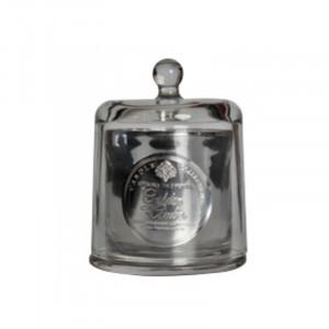 Lumanare parfumata cu suport argintiu din sticla 9,5 cm Deepa Amber Opjet Paris