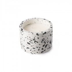Lumanare parfumata cu suport din ciment Terazzo April M HK Living