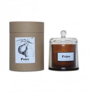 Lumanare parfumata cu suport maro chihlimbar/transparent din sticla 11 cm Sweet Pear Opjet Paris