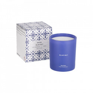 Lumanare parfumata din ceara si sticla 10 cm Blue Bay Kave Home