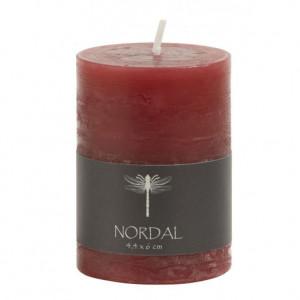Lumanare rosie 6 cm Round Nordal