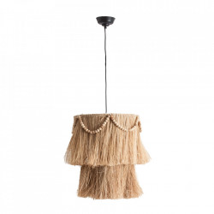 Lustra crem din fibre naturale si fier Hellen Natural Vical Home
