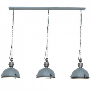 Lustra gri din metal si sticla cu 3 becuri Bikkel Steinhauer