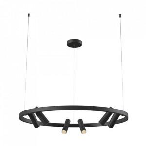 Lustra neagra din metal cu 6 LED-uri Satellite Pendant Black Maytoni