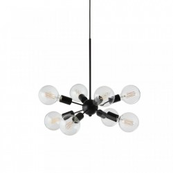 Lustra neagra din metal cu 8 becuri Mega Junction Frandsen Lighting