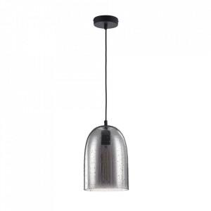 Lustra neagra/gri din metal si sticla Bergen Design Maytoni