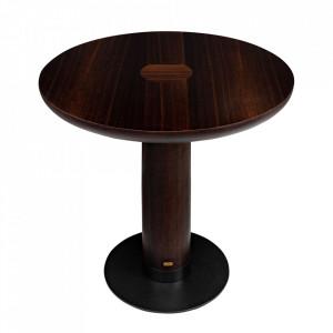 Masa bar maro din lemn de eucalipt si otel 80 cm Joburg Versmissen