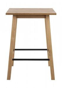 Masa bar maro/neagra din lemn si metal 75x75 cm Chara Square Actona Company