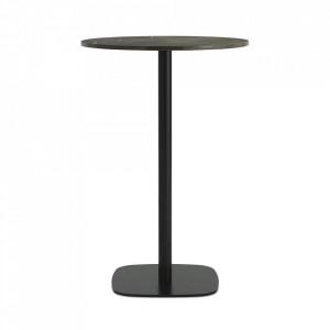 Masa bar neagra/maro din marmura 70 cm Form Normann Copenhagen