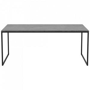 Masa de cafea gri antracit/neagra din ciment si otel 60x120 cm Como Tall Bolia