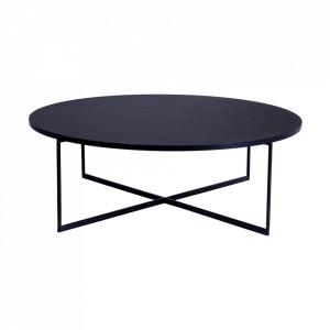 Masa de cafea neagra din PAL si metal 100 cm Niko Custom Form