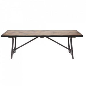 Masa dining din lemn de pin si metal 90x190 cm Craft Be Pure Home