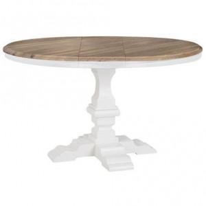 Masa dining extensibila maro/alba din lemn si MDF 120(160) cm Nancy Richmond Interiors