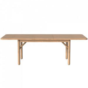 Masa dining extensibila maro din lemn 100x(180)230 cm Gost Zago