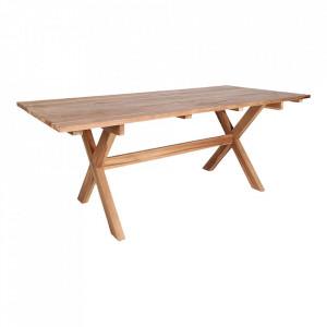 Masa dining maro din lemn de tec 90x200 cm Murcia House Nordic