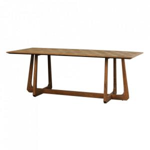 Masa dining maro din lemn de ulm 101x220 cm Tessa Denzzo
